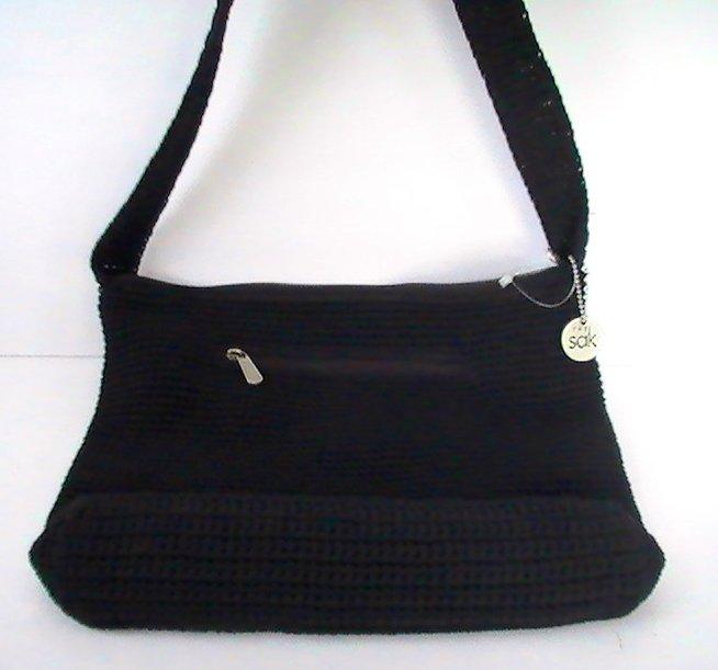 Sak Crochet Bag : ... of THE SAK Handbag Fabiana Crochet Black Purse Shoulder Bag OOS