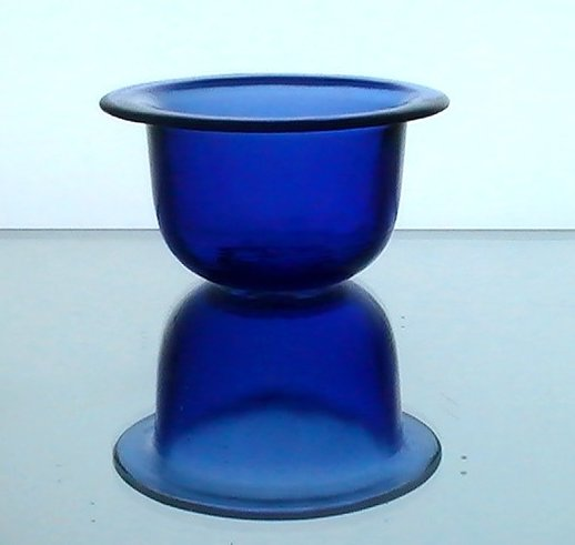 Hanging candle holder cobalt blue flat rim 4 5 x oos for Flat candle holders