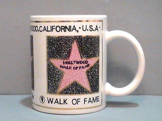 Coffee Mug Hollywood Walk of Fame Souvenir 12 Oz California