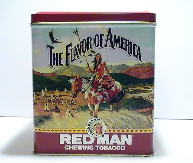 Redman Flavor of America Chewing Tobacco Tin Canister 1991