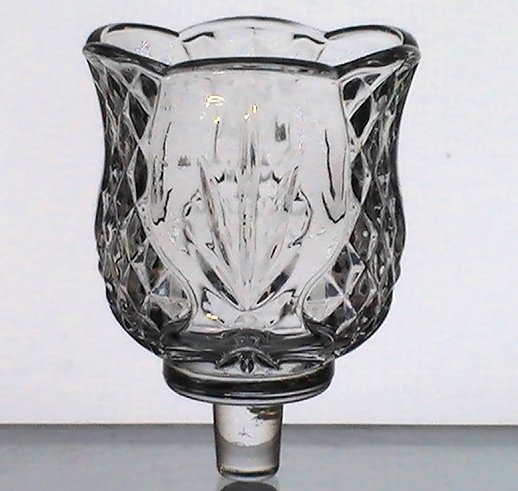 Thumbnail of Home Interiors Peg Votive Holder Reflections Fronds and Diamonds