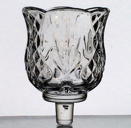 Home Interiors Peg Votive Holder Reflections Fronds and Diamonds