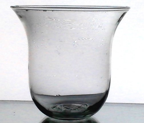 Hanging candle holder cup flat bottom flare 4 x 4 oos for Flat candle holders