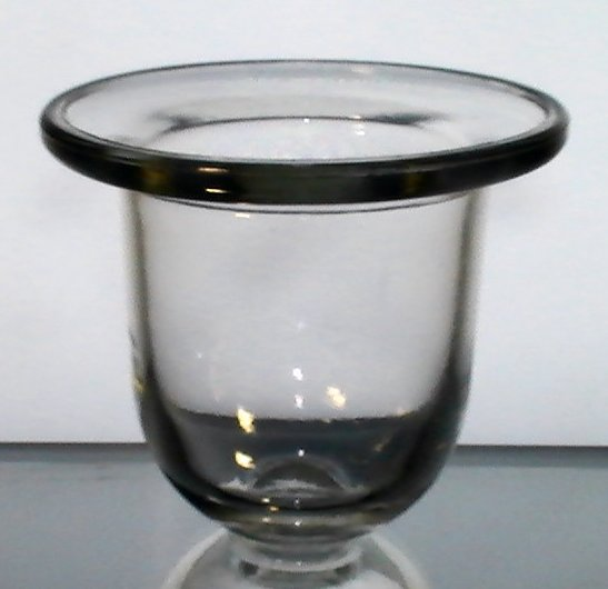 hanging candle holder flat wide rim 5 x 5 5 8 lg heavy
