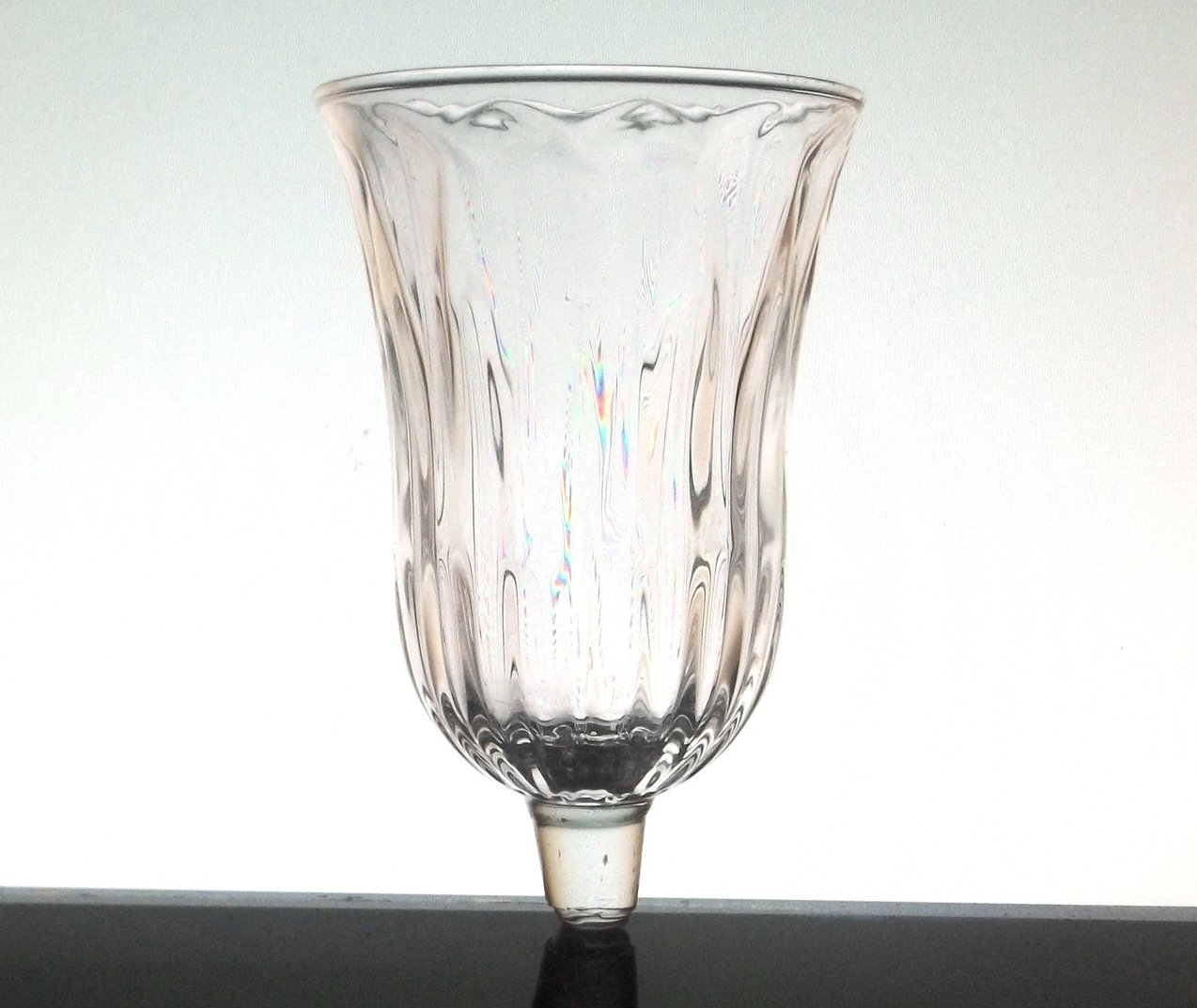 Home Interiors Peg Votive Candle Holder Clear Tiffany