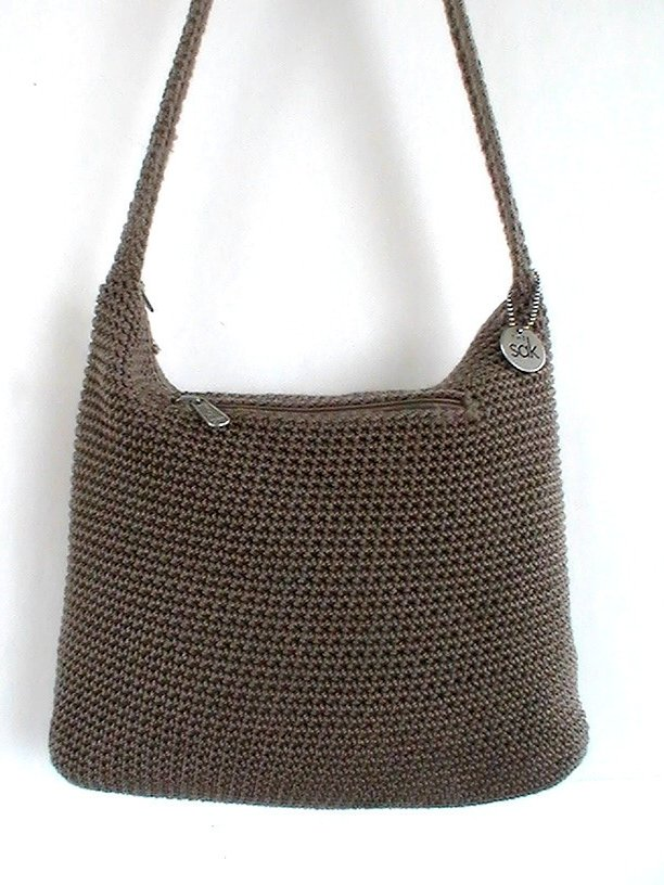 ... of THE SAK Handbag Fabiana Crochet Brown Purse Shoulder bag OOS