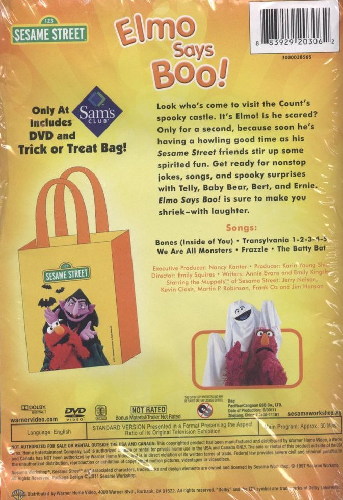 elmo says boo dvd Sesame street - elmo says boo (vhs, 1997) - $799 box has lifted edge, excellent condition otherwise so cute these tapes all bought for grandson 152767695813.