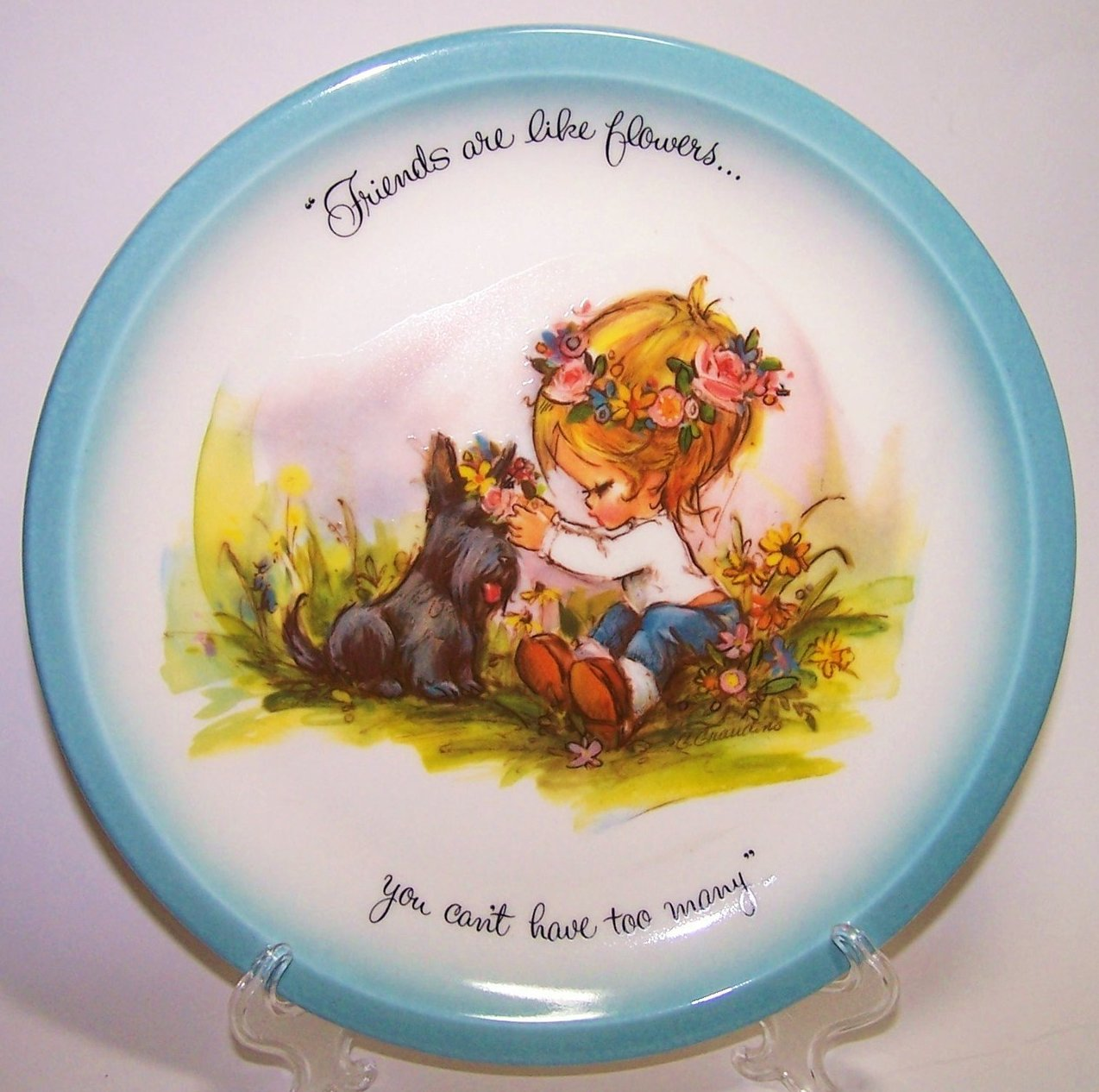 Image 0 of American Greetings Collector Plate Gigi Friends Are Like Flowers