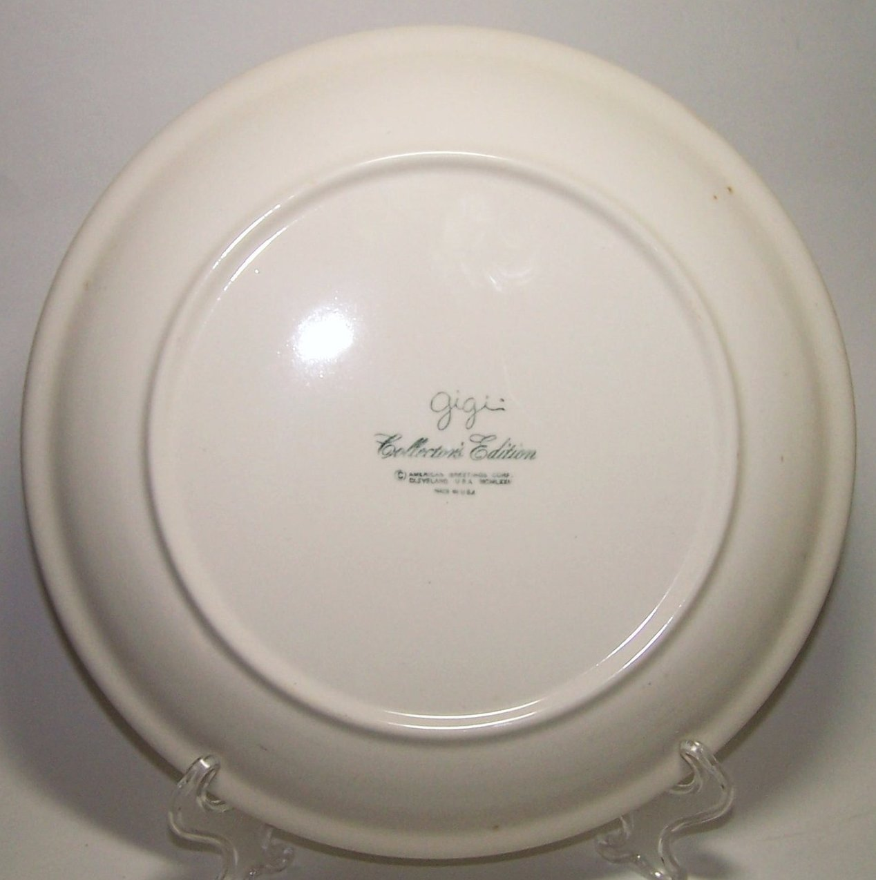 Image 2 of American Greetings Collector Plate Gigi Friends Are Like Flowers