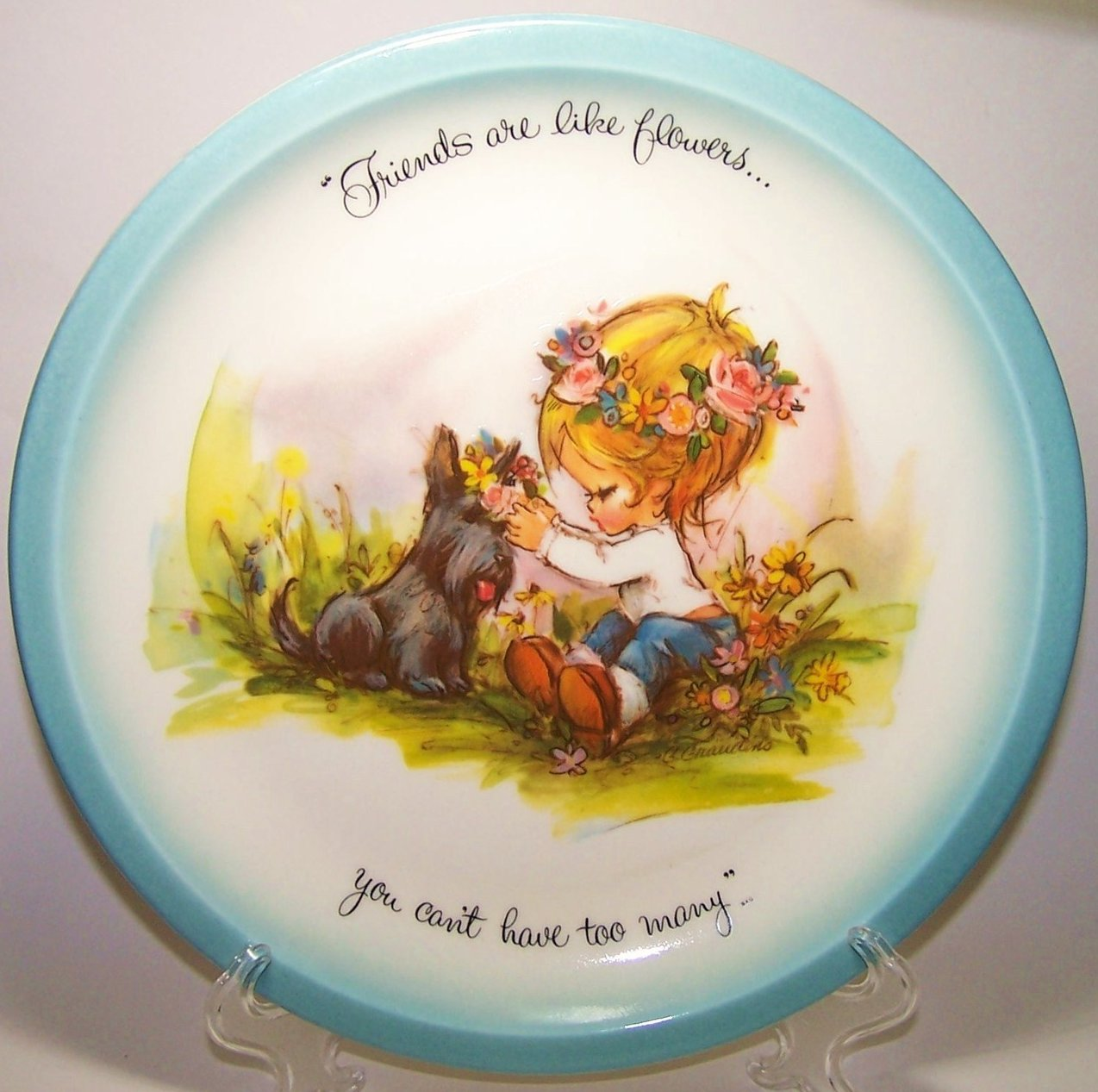 Image 4 of American Greetings Collector Plate Gigi Friends Are Like Flowers