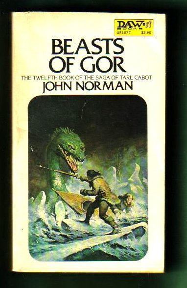 BEASTS OF GOR ~ 12TH IN SAGA by JOHN NORMAN DAW 280 1ST 1978 (VG)