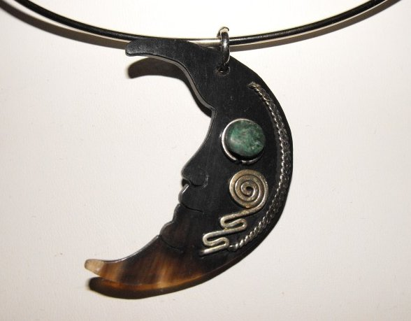 Choker Necklace Handcrafted Artisan Bullhorn Turquoise Alpaca Silver