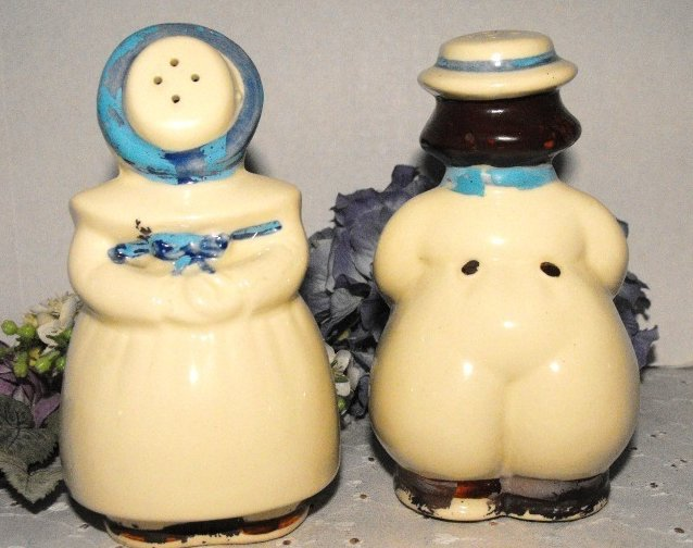 Image 1 of Shawnee Salt and Pepper Shakers Dutch Jack and Jill Large Range Size