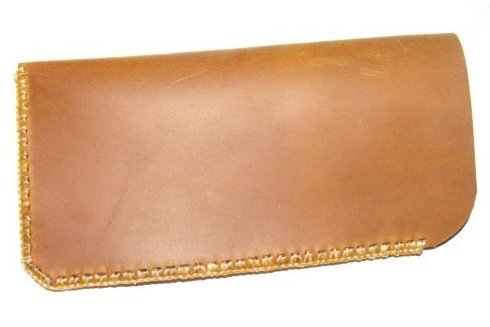 Soft Leather Handcrafted Eyeglass Case Stone Oil Tanned Hand Stitched Unlined