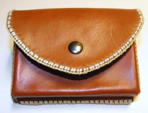 Leather Molded Belt Case Hand Made Cowhide Case Hand Stitched Steel Snap