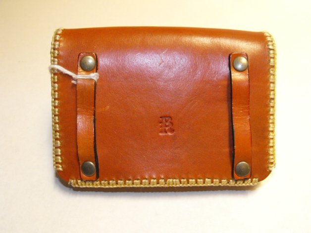 Image 1 of Leather Molded Belt Case Hand Made Cowhide Case Hand Stitched Steel Snap