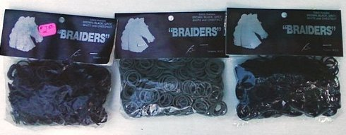 Image 0 of Braiders mane and tail braiding bands brown black or grey