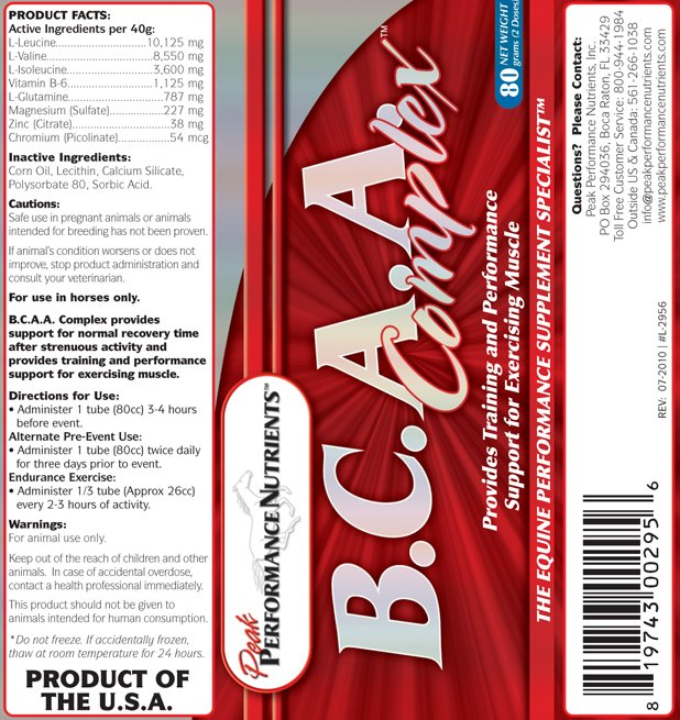 Image 2 of BCAA Complex 1.5# Peak Performance Nutrients equine supplement