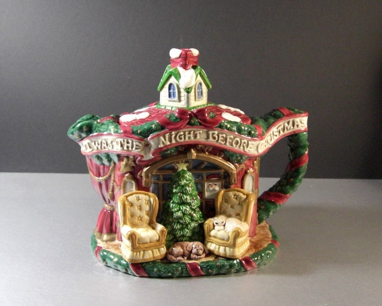 Fitz and Floyd Night Before Christmas Teapot 1993