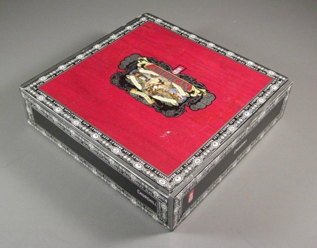 Paper Wrapped Alec Bradley Cedar Cigar Box / Humidor / Churchill