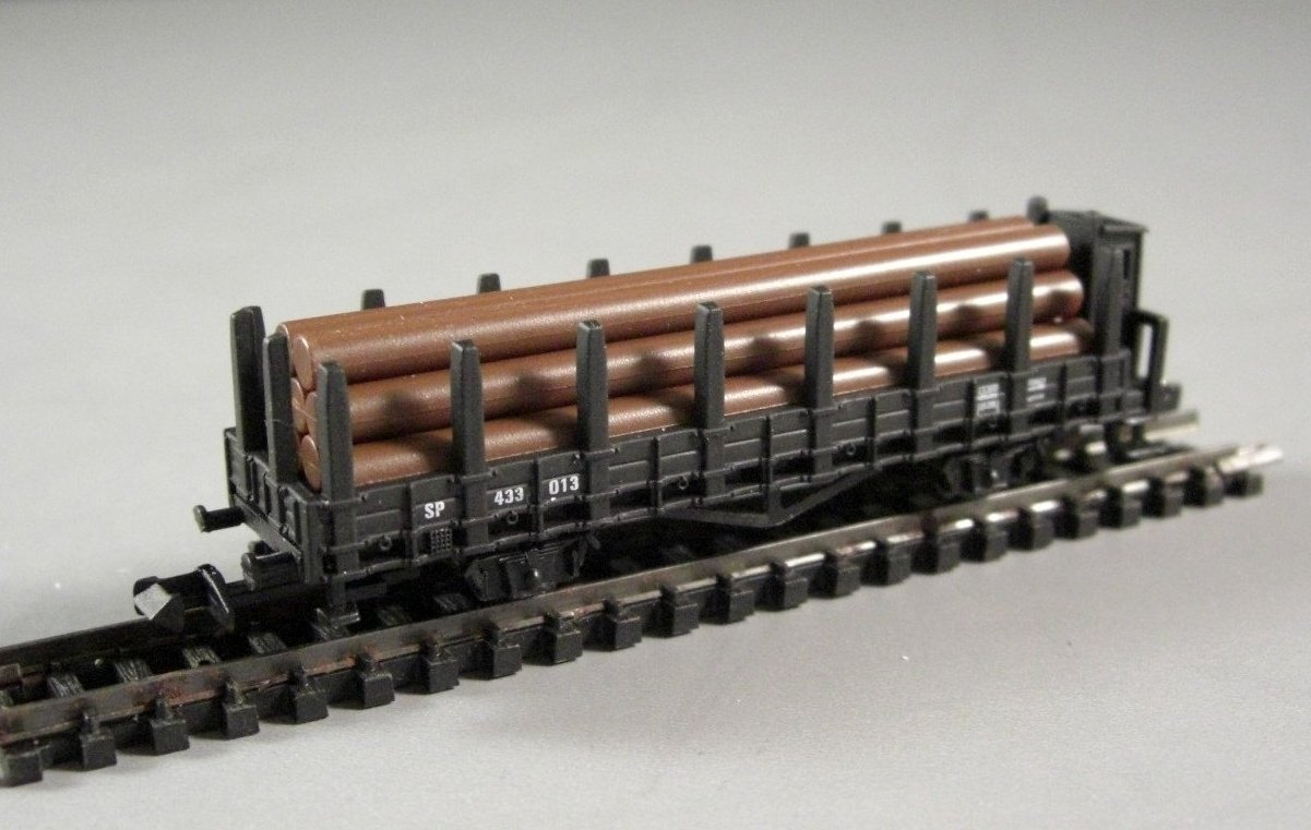 N Scale Southern Pacific Train Log Car