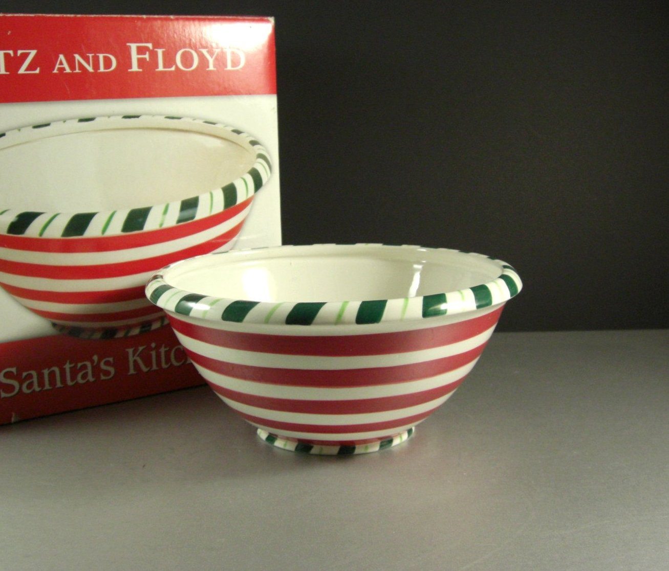 Fitz and Floyd Santa's Kitchen Christmas Serving Bowl