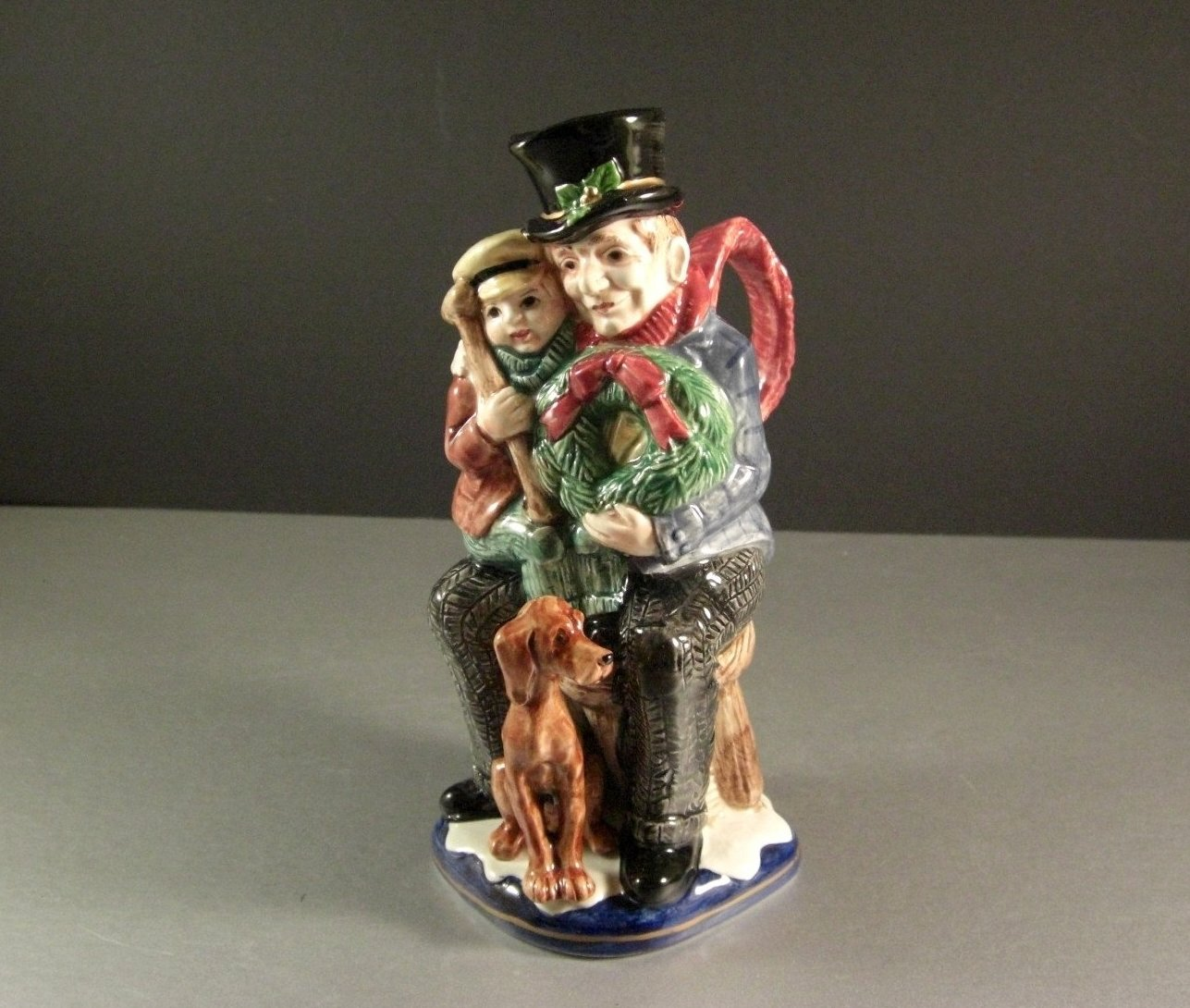 Fitz and FLoyd Christmas Carol Bob Cratchet Tiny Tim Toby Pitcher 1993