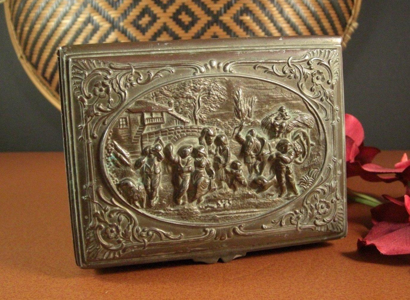 JB Jennings Brothers Desk Jewelry Trinket Box Bakelite Lining