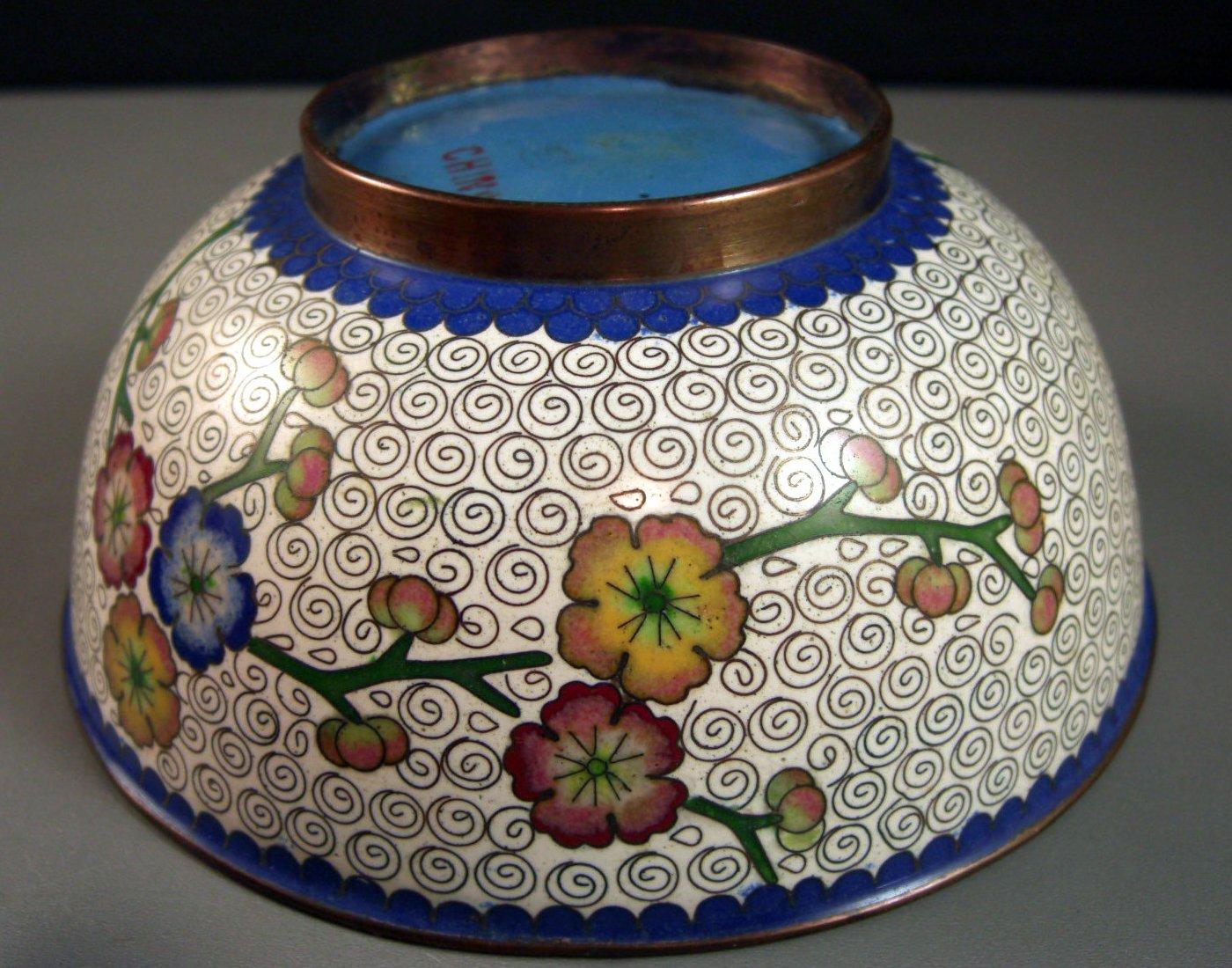 Antique Bronze CLOISONNE Bowl