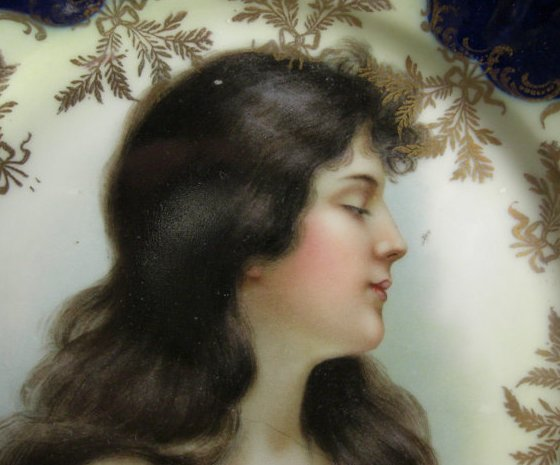 Victorian Porcelain Portrait Plate Rosenthal  IRIS