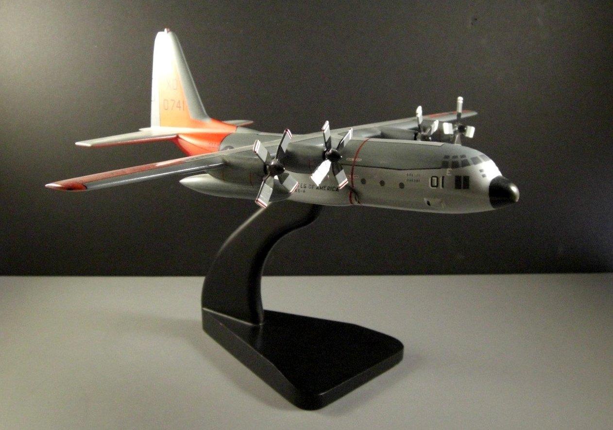 Desk Top Model Airplane // Lockheed Martin C-130 Cargo Plane // US Navy // Handm