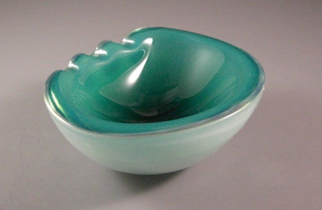 Cenedese Cased Italian Art Glass Bowl Murano Sommerso Ashtray