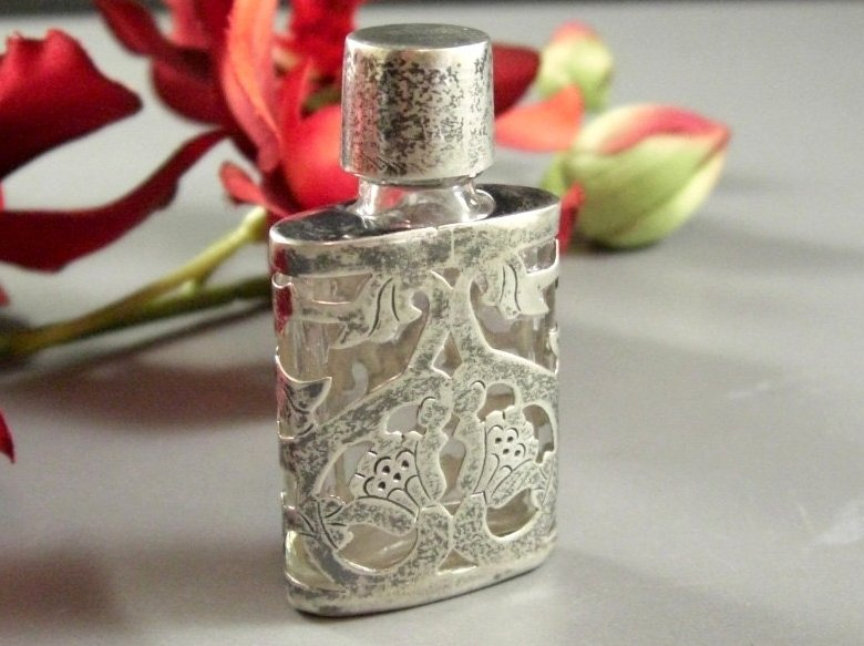 Taxco Sterling Perfume Scent Bottle JJC Mexico