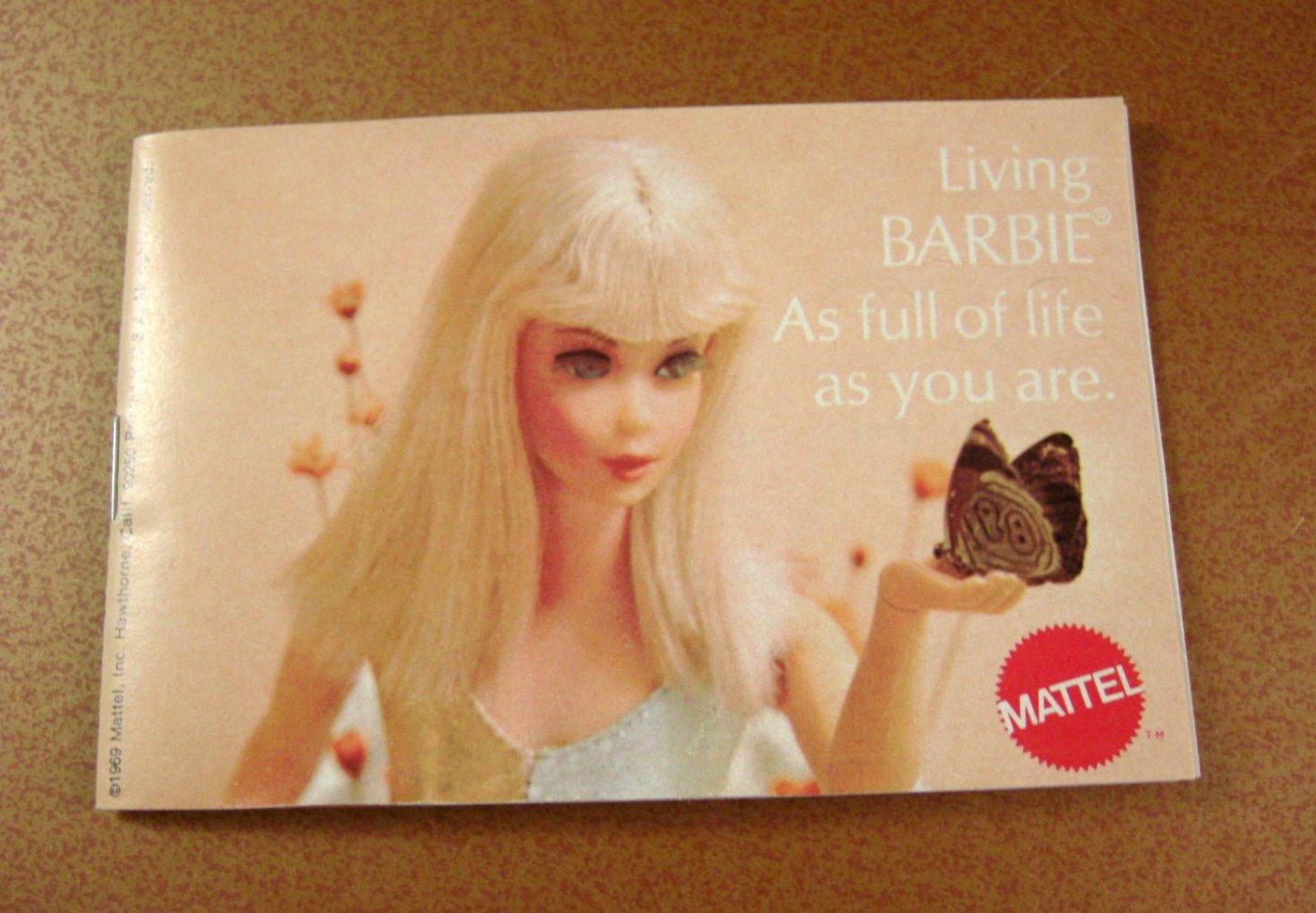 1969 Living Barbie full Color Catalog / Vintage Barbie Advertising