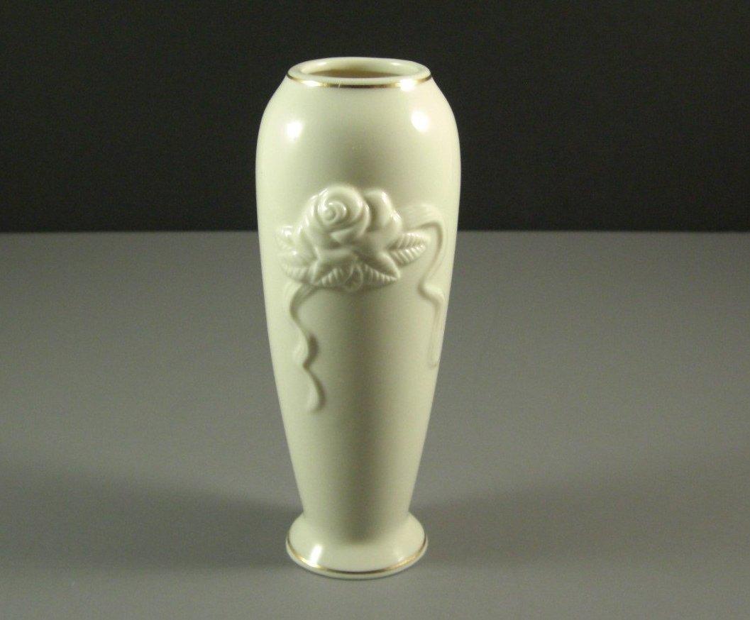 Lenox Cream Porcelain ROSE Vase Creamware