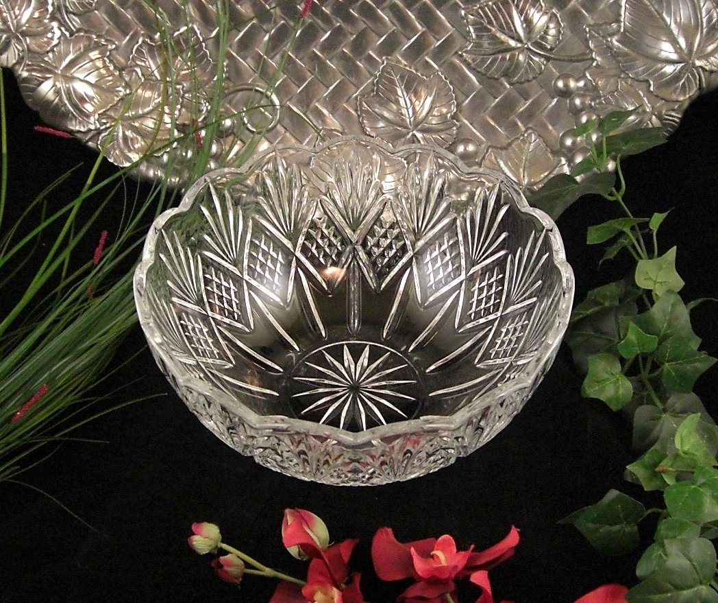 Cut Crystal Serving, Wedding Bowl