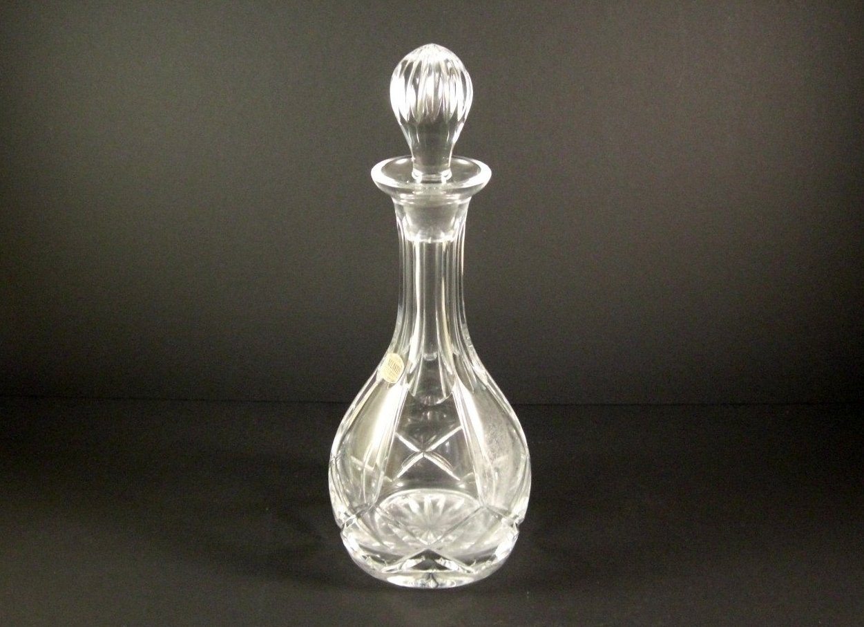Atlantis Cut Crystal Liquor Decanter Vintage w/tag