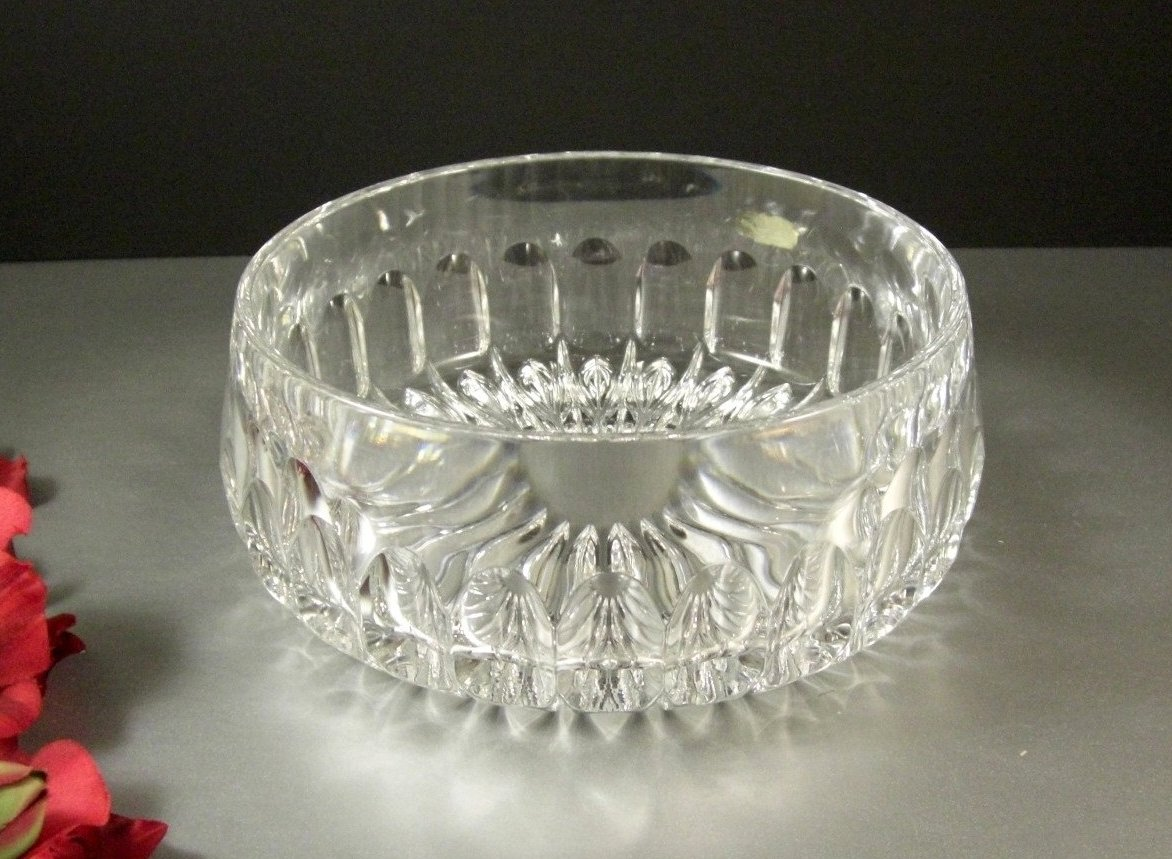 Gorham Althea Cut Crystal Centerpiece Bowl / Nactmann Germany