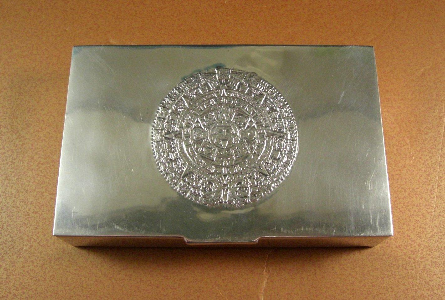 Sterling Silver Cigarette Box Desk Trinket Valet Stash Presentation // M.R.R. //