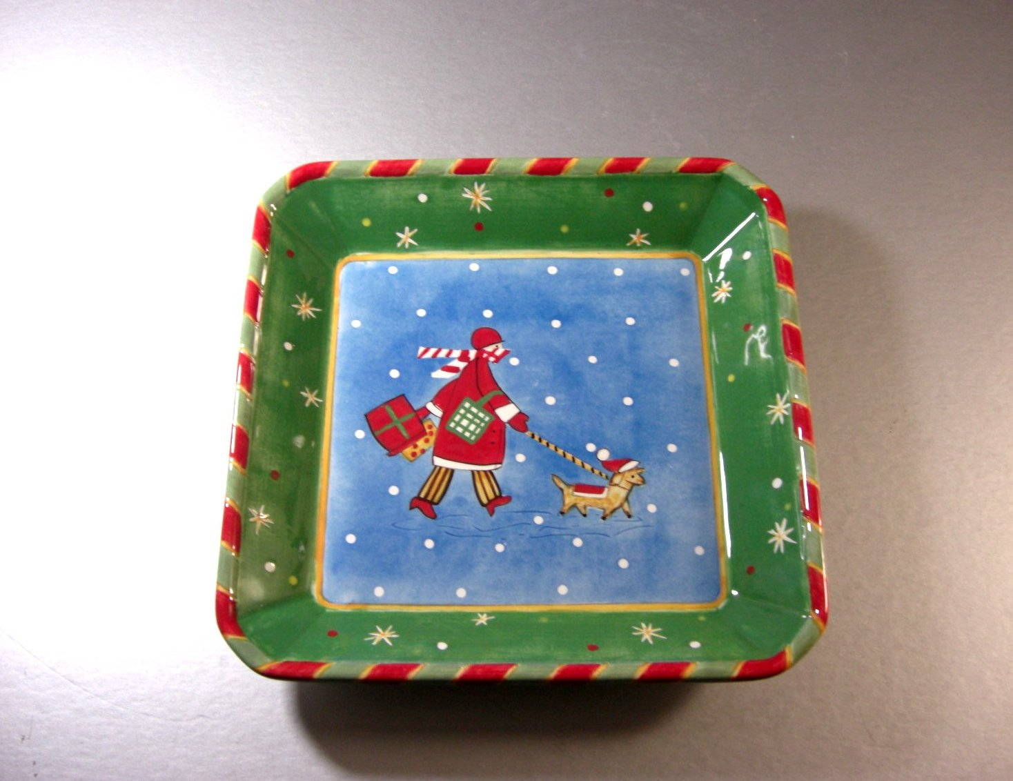 Christmas Time In The City Cookie Candy Dish Tray By Sango Designed By Chuck Fis