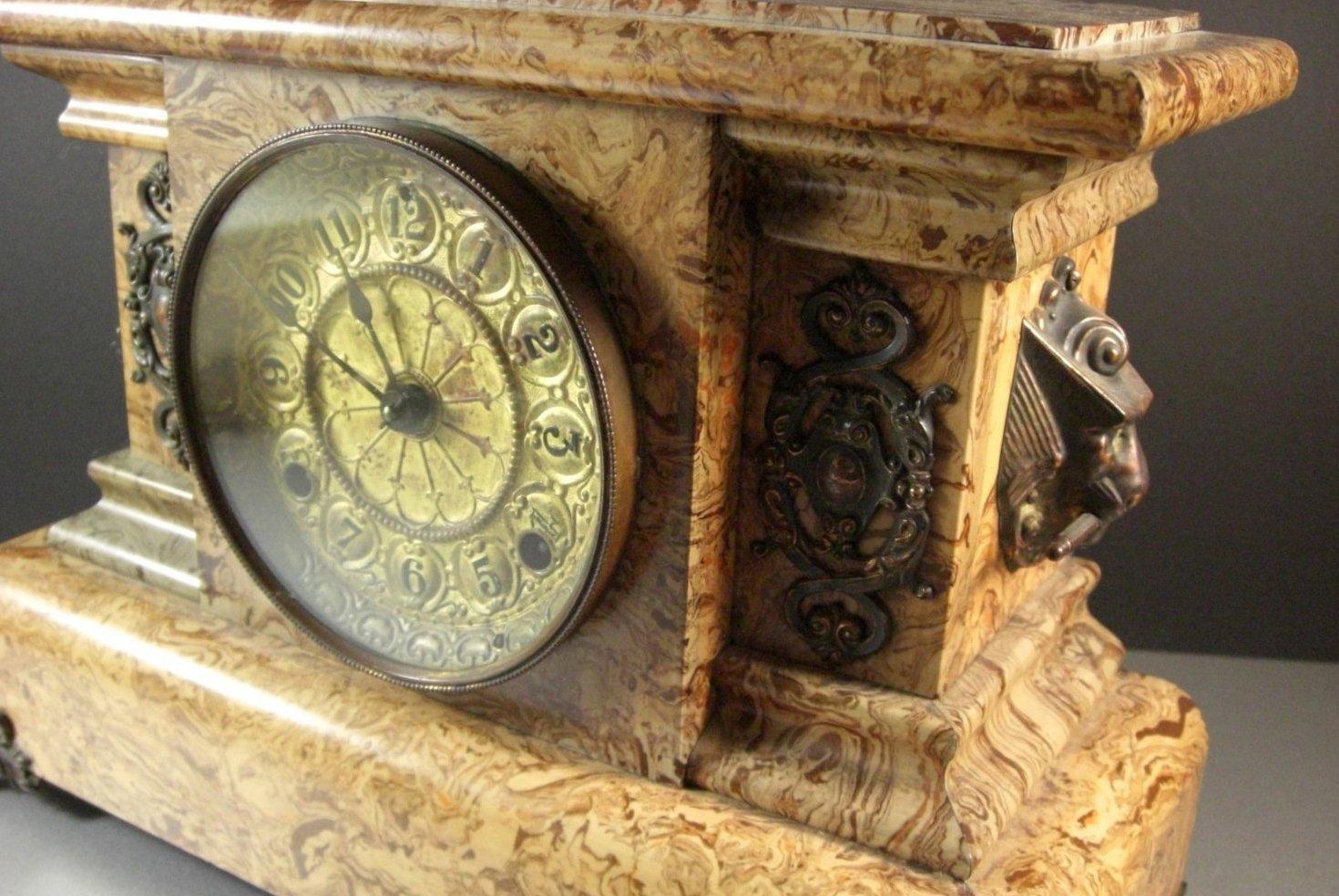 Antique Seth Thomas Adamantine Mantel Clock Late 1800's