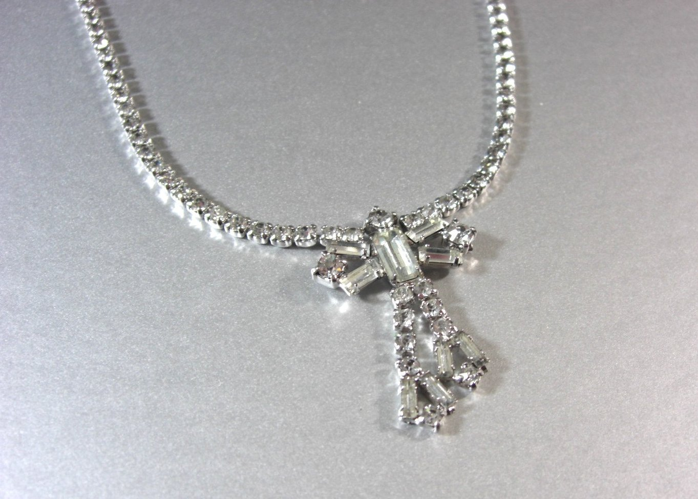 Clear Rhinestone Necklace / Bridal Wedding
