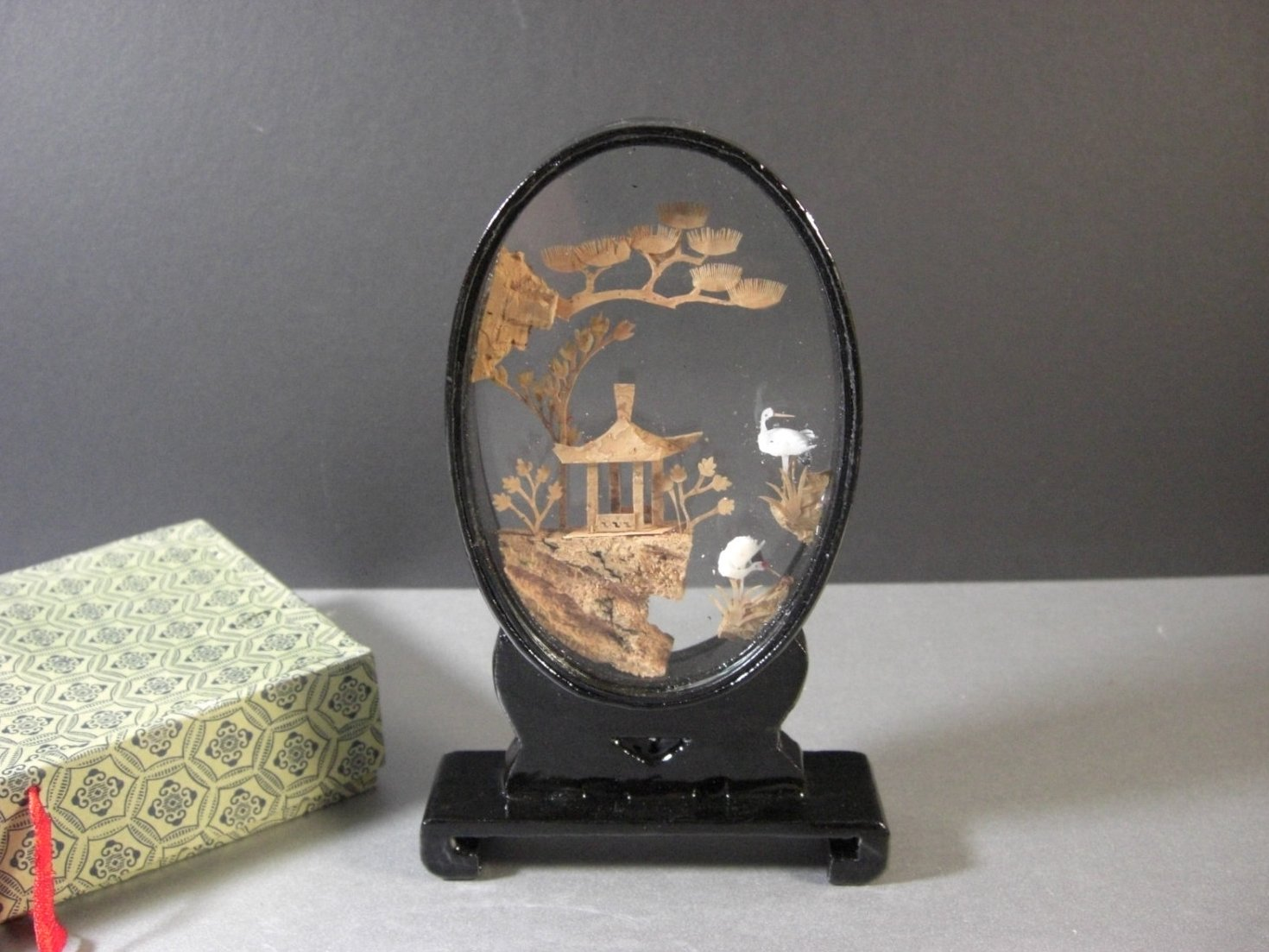 Asian Cork Carving Chinoiserie
