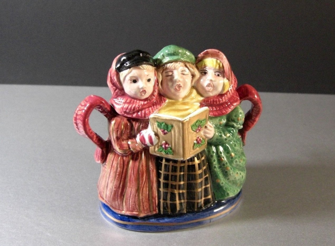 Fitz and Floyd A Christmas Carol Sugar Box Bowl with Spoon 1993