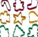 Holiday Cookie Cutters Set of 9 by Wilton