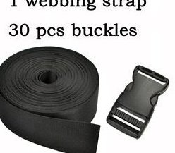 1.5 Inch Wide 10 Yards Black Nylon Heavy Webbing Strap3 by Cosmos