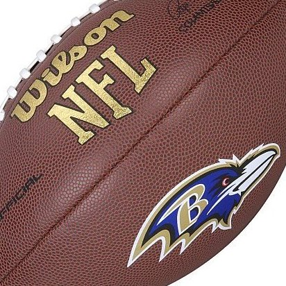 Image 0 of Baltimore Ravens Logo Official Football by Wilson