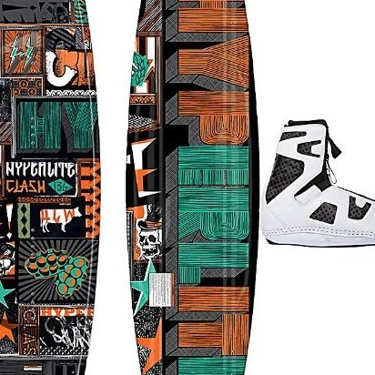 Image 0 of 2013  Clash Wakeboard with Team OT Boots Bindings - 141 O by Hyperlite