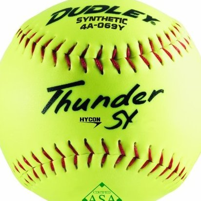 Image 0 of ASA Thunder Hycon Slow Pitch Synthetic Ball Yellow Size 1 by Dudley