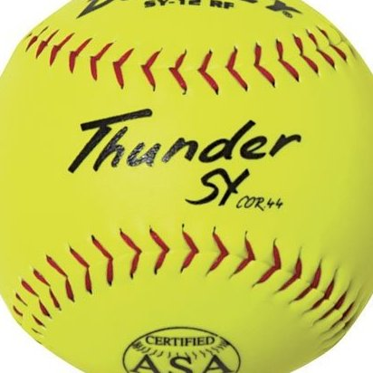 Image 0 of ASA Thunder SY Slow Pitch Synthetic Soft Ball 0.44/375-Pou by Dudley